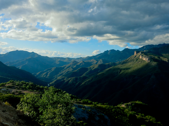 The view looking down canyon during the climb out. / 登山の最中に見えたキャニオンを見下ろした景色。