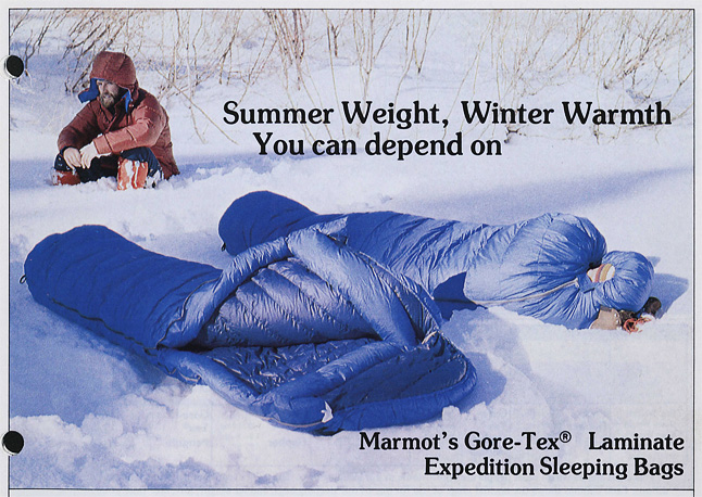 Catalog 1978 GORETEX Sleepingbag
