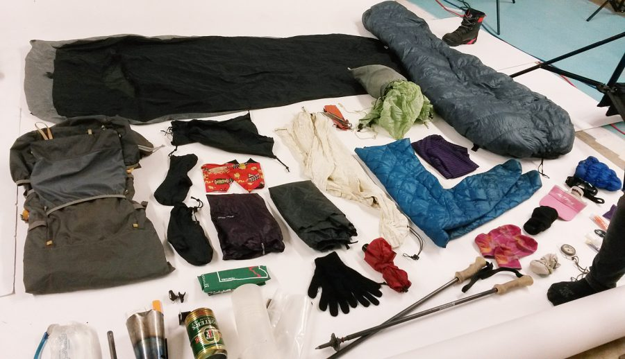 My gear kit for a cold weather, late fall backpacking trip