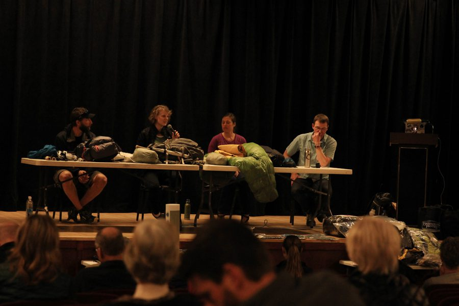 A panel of hikers talk about their gear at the Colorado Ruck. Photo by John Carr courtesy ALDHA-W JPG
