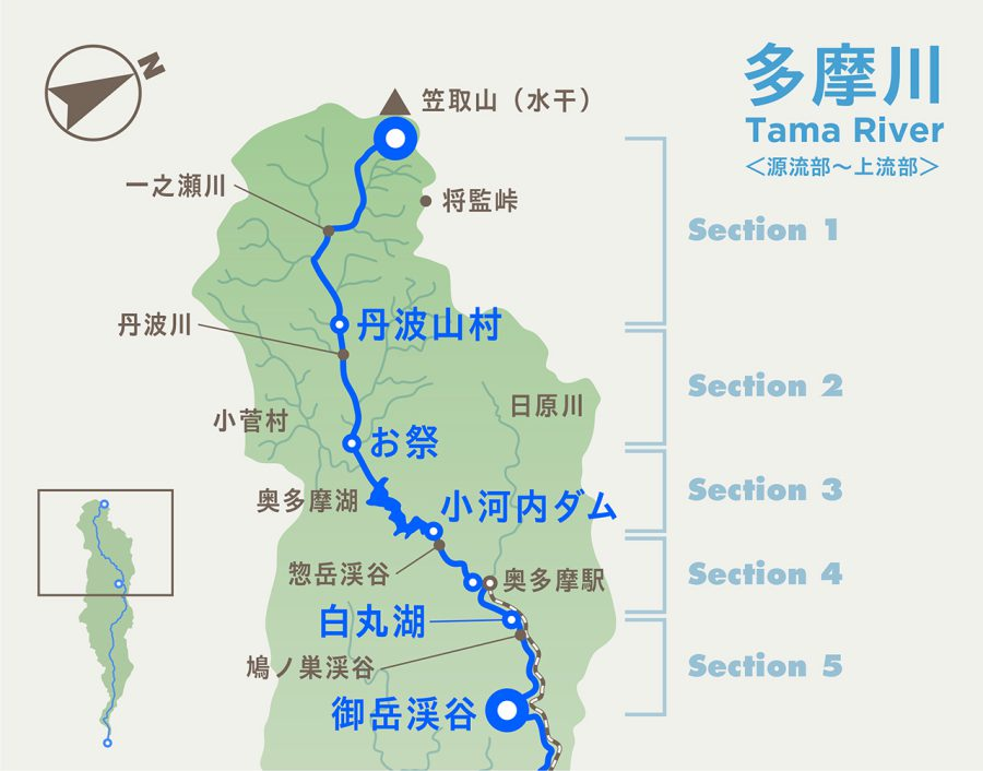 tamagawa map_upper section