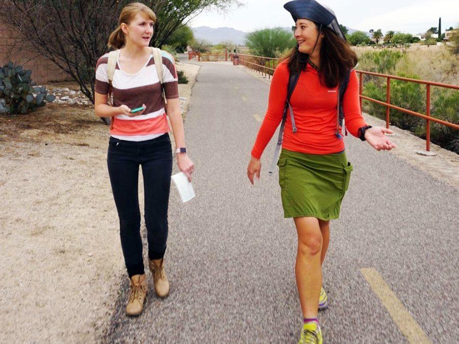 12_Liz Thomas urban hiking in Tucson, Arizona in March on the Loop. Photo by Sirena Dafault